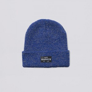 discovery beanie speckle blue